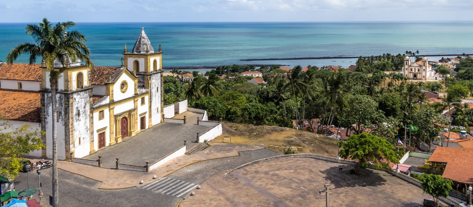 Aerial View of Se Cathedral - Olinda, Pernambuco, Brazil, South America