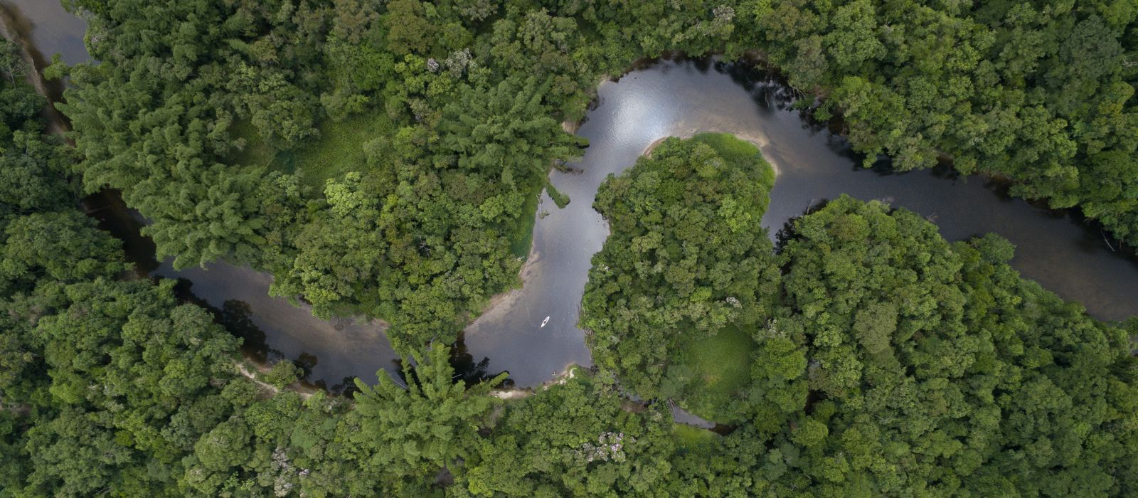 Top View of Amazon River, Brazil, South America