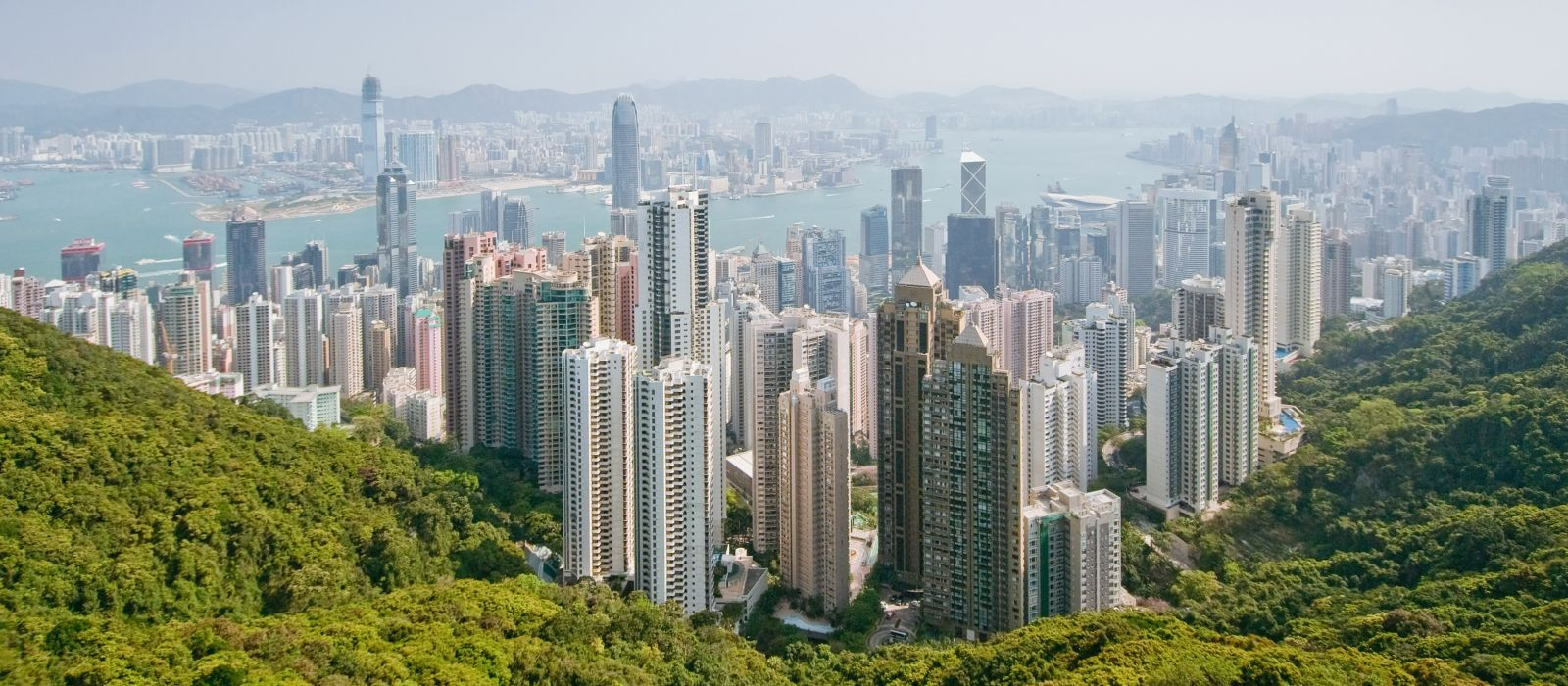 Panoramablick über Hongkong, Asien