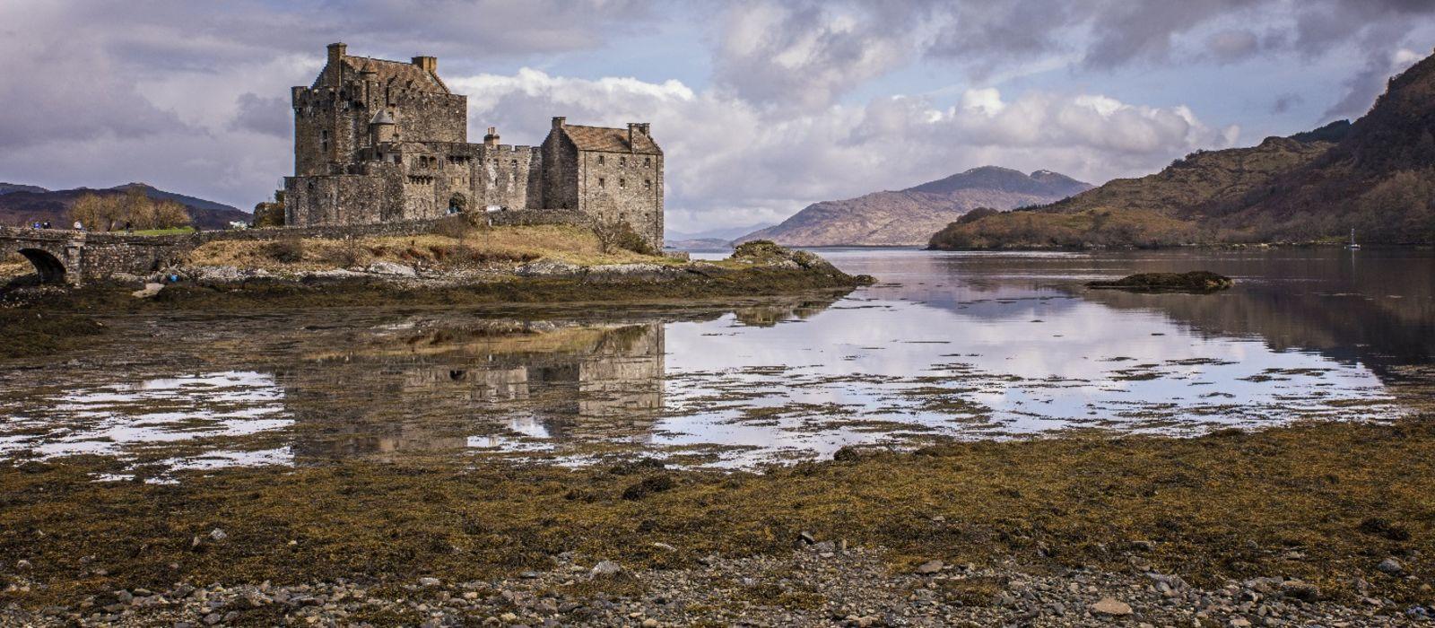 Enchanting Travels UK & Ireland Tours Eilean Donnan Castle in Kyle of Lochalsh Scotland