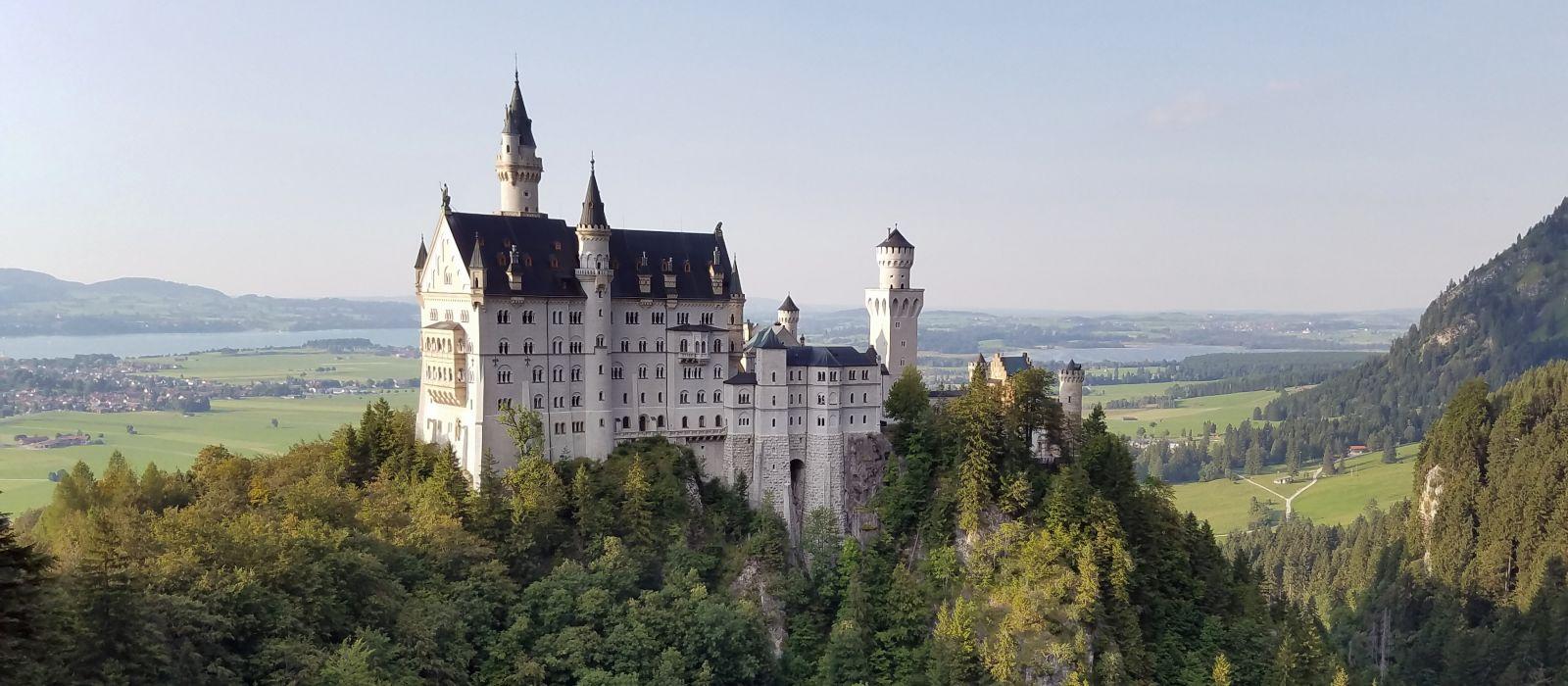 Famous Neuschwanstein Castle in Bavaria, Germany, Europe