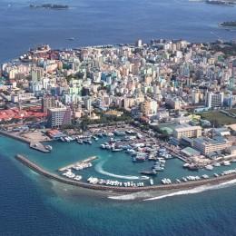 Hauptstadt der Malediven Male von oben gesehen
