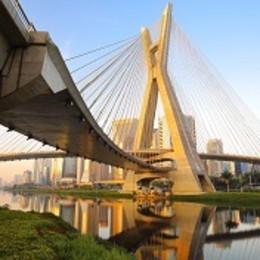 Estaiada Bridge in Sao Paulo, Brazil, South America
