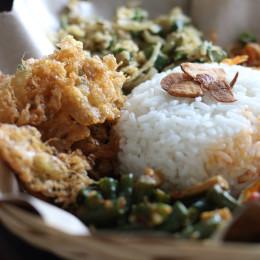 Lawar Rice, Balinese food, Indonesia, Asia