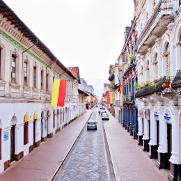 Streets of Cuenca in Ecuador