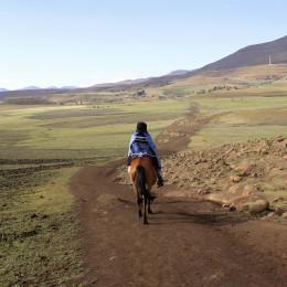 Landscape of Lesotho, Africa
