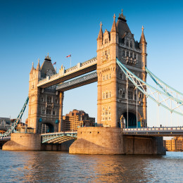Enchanting Travels UK & Ireland Tours Tower Bridge in London in the late afternoon