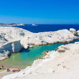 Sarakiniko Strand, Milos, Griechenland