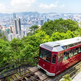 Peak Tram, Hong Kong City Skyline
