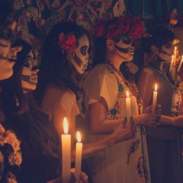 Day of the dead celebration Mexico