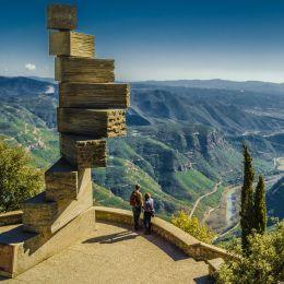 eight 8 stairs to heaven in Montserrat in Spain near Barcelona