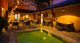 Restaurant at Hotel Fort Printers in Galle Fort, Sri Lanka