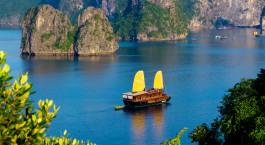 Außenansicht von Valentine Cruise in Halong Bucht, Vietnam