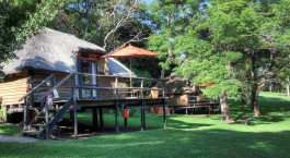 Exterior view at Kubu Lodge Hotel, Chobe National Park in Botswana