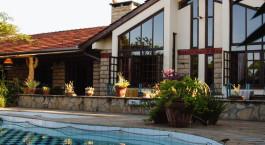 Pool area at Macushla House in Nairobi, Kenya