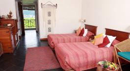 Twin room at Shangri la Village in Pokhara, Nepal