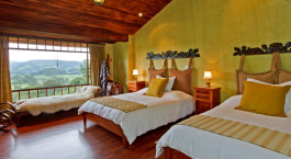 Twin room at Hacienda La Alegría Hotel in Cotopaxi, Ecuador/Galapagos