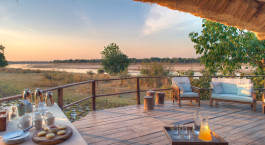 Terrace at Kakuli Bush Camp in South Luangwa, Zambia
