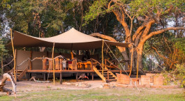 Exterior view of Mukambi Safari Lodge in Kafue, Zambia