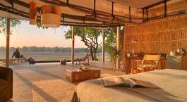Early morning views at Chinzombo Lodge in South Luangwa in Zambia