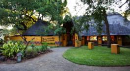 Exterior of Maramba River Lodge in Victoria Falls, Zambia