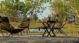 sit out at Kana Kara Camp in Okavango Delta, Botswana