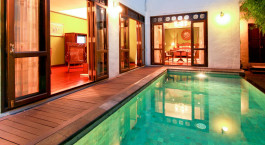 Private pool at Puripunn-baby Grand Boutique Hotel in Chiang Mai, Thailand