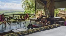 Bedroom view at Kilima Camp in Masai Mara, Kenya