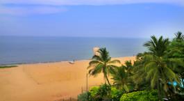 Blick aufs Meer von Hotel J in Negombo, Sri Lanka