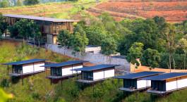 Vogelperspektive des Santani Wellness Resort & Spa Hotel in Kandy, Sri Lanka