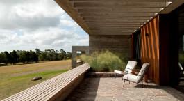 Privat terrace at Fasano Las Piedras Hotel in Punta del Este, Uruguay