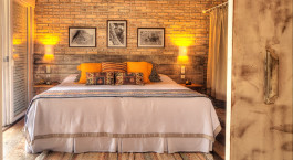 Double bed at Caiman Ecological Refuge Cordilheira Lodge in Pantanal South, Brazil