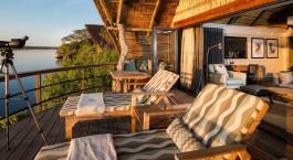 Room with balcony at Chobe Water Villas, Chobe National Park, Botswana