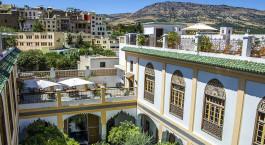 Außenansicht des Palais Amani in Fes, Marokko