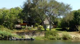 River in front of the hotel Waterberry Lodge, Victoria Falls, Zambia