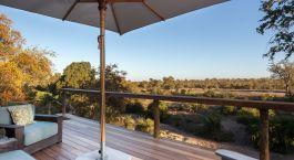 Terrasse der Thornybush Simbambili Game Lodge, Krüger in Südafrika