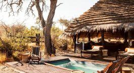 Pool at Camp Kalahari Hotel in Kalahari Salt Pans, Botswana