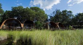 Exterior view at Camp Okuti in Okavango Delta, Botswana
