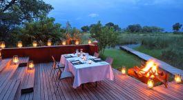 Dinner im Camp in Okavango Delta, Botswana