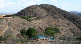 Pool background mountain, Saruni Samburu, Samburu & Shaba, Kenya Tours, Africa