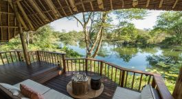 Terrace view at Finch Hattons in Tsavo West, Kenya