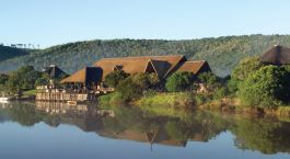 View from the lodge at Kariega River Lodge in Eastern Cape Game Parks, South Africa