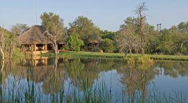 Außenansicht im Camp Jabulani in Kruger, Südafrika