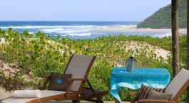 Terrace view at Thonga Beach Lodge in Isimangaliso, South Africa