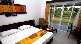 Schlafzimmer im Ametheyst Hotel in Sri Lanka, Pasikudah