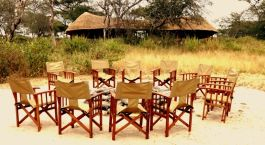 outdoor siting area Oliver's Camp, Tarangire, Indonesia