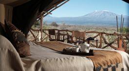 Zimmeraussicht im Hotel Satao Elerai in Amboseli, Kenia