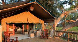 Zelt im Gunn's Camp in Okavango Delta, Botswana