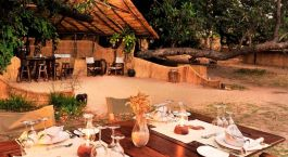 Lunch at Luwi Bushcamp in South Luangwa, Zambia