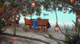 Dinner outdoor at Haad Tien Beach Resort Hotel in Thailand